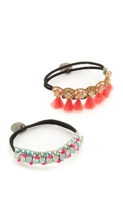 Deepa by Deepa Gurnani Tassel Ponytail Holders