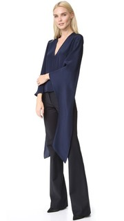 Блуза с V-образным вырезом Derek Lam