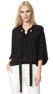 Блуза со шнуровкой Derek Lam