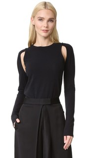 Knit Top with Cutouts Dkny
