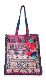 Объемная сумка с короткими ручками Samoa Figue