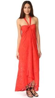 Длинное платье с американской проймой Fuzzi