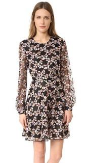 Кружевное платье с длинными рукавами Just Cavalli