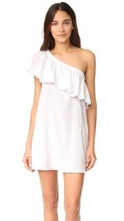 Пляжное платье с открытым плечом и оборкой Milly