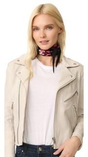 Очень узкий шарф с цветочным рисунком Rockins