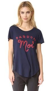 Футболка Pardon Moi с запахом Sol Angeles