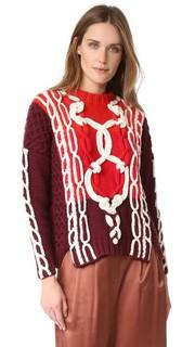 Свободный свитер с отделкой в виде морских узлов Spencer Vladimir