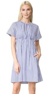 Платье с завышенной талией в полоску Victoria Victoria Beckham
