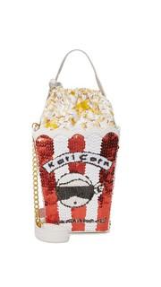 Сумка в виде пакета для попкорна с изображением Карла Лагерфельда Mua Mua