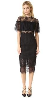 Миди-платье из кружева с геометрическим узором Cynthia Rowley