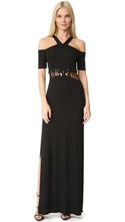 Платье с открытыми плечами Yigal Azrouel