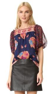 Блуза с принтом Bouquet Scarf Anna Sui