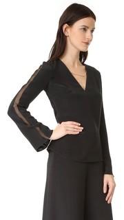 Блуза с V-образным вырезом Cushnie Et Ochs