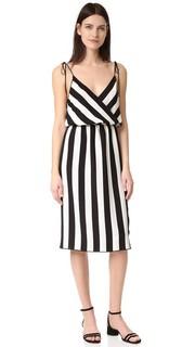Платье-майка в полоску с перекрещенным элементом Marc Jacobs