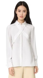 Шелковая блуза с завязками Tibi