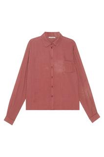 Шелковая рубашка в клетку Siltstone Caramel