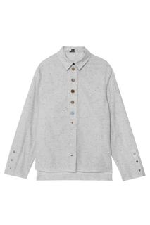 Рубашка из хлопка и шерсти J.Kim
