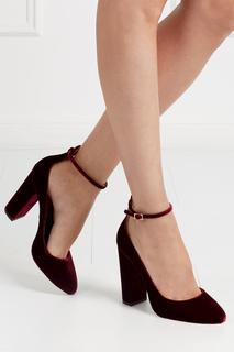 Бархатные туфли Alix Aquazzura
