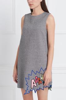 Платье из хлопка и шерсти Herringbone Mira Mikati
