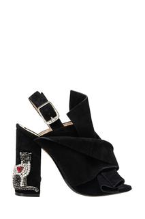 Замшевые туфли-мюли Althea No.21