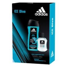 ADIDAS Подарочный набор Ice Dive man Лосьон после бритья 50 мл + гель для душа 250 мл