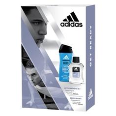 ADIDAS Подарочный набор Performance men Освежающий лосьон после бритья 100 мл + After Sport гель для душа 250 мл