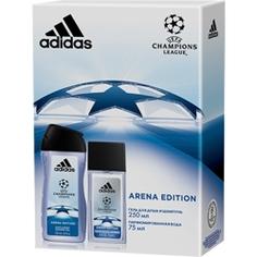 ADIDAS Подарочный набор Champion League III Arena Edition Парфюмерная вода, спрей 75 мл + гель для душа 250 мл