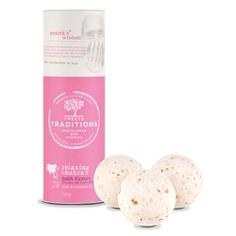 "TREETS TRADITIONS Средства косметические соли для принятия ванн ""бомбочка для ванны"" RELAXING CHAKRAS 3 шт. x 100 г"