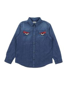 Джинсовая рубашка Fendi