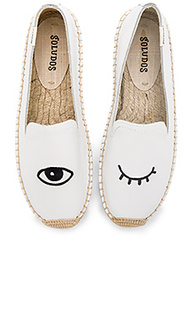 Embroidered platform smoking slipper - Soludos
