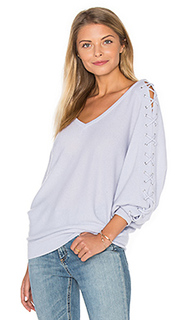 Double v laced dolman sweater - Autumn Cashmere