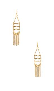 Pave & fringe chandelier earrings - Rebecca Minkoff