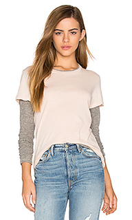 Double layer long sleeve tee - MONROW
