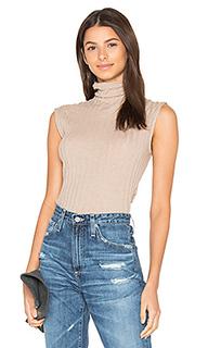 Cashmere rib sleeveless turtleneck sweater - Enza Costa