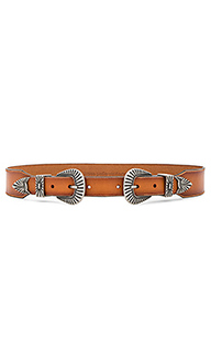 Western double buckle belt - Linea Pelle
