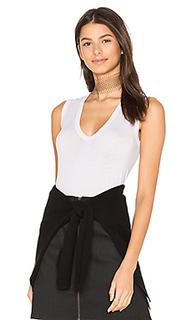 Tissue jersey sleeveless u neck tank - Enza Costa