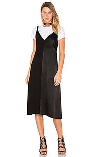 Атласное макси платье dual - LACAUSA