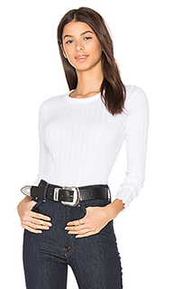 Cashmere rib long sleeve tee - Enza Costa