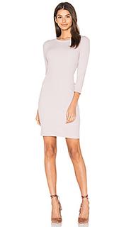 Rib 3/4 sleeve mini dress - Enza Costa