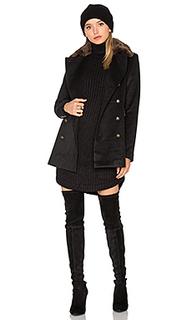 Двубортное пальто с воротником из искусственного меха enmy - Capulet