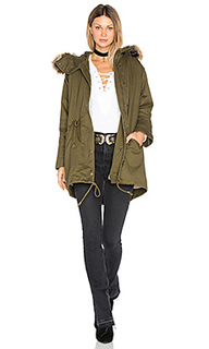 Drawstring jacket with faux fur trim - J.O.A.