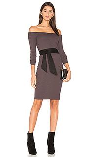 Rib off shoulder mini dress - Enza Costa