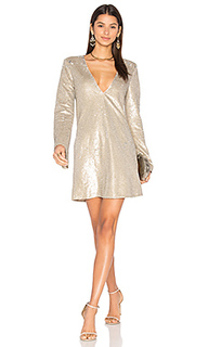 Платье с длинным рукавом gold diamond - THE JETSET DIARIES