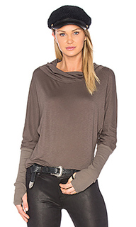 Luxe slub cowl neck top - Michael Stars