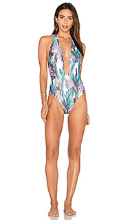 Texta tropical plunge one piece swimsuit - MINKPINK