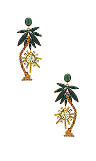 Palm tree earrings - Elizabeth Cole