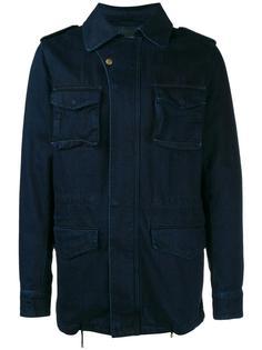 джинсовая куртка с кроличьим мехом Yves Salomon Homme