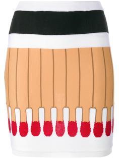 юбка с элементами спичек Moschino