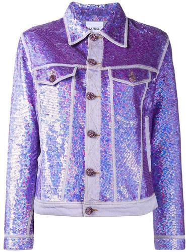 джинсовая куртка с пайетками  Ashish