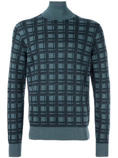 свитер в клетку  Brioni